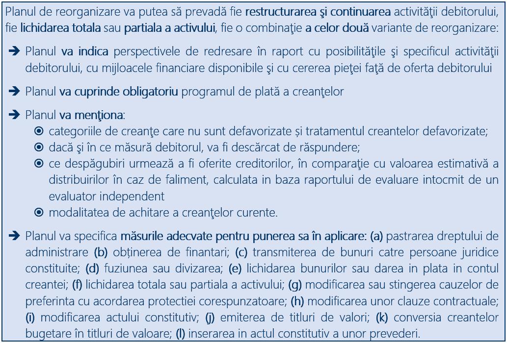 Administrarea judiciara - Continutul planului de reorganizare judiciară